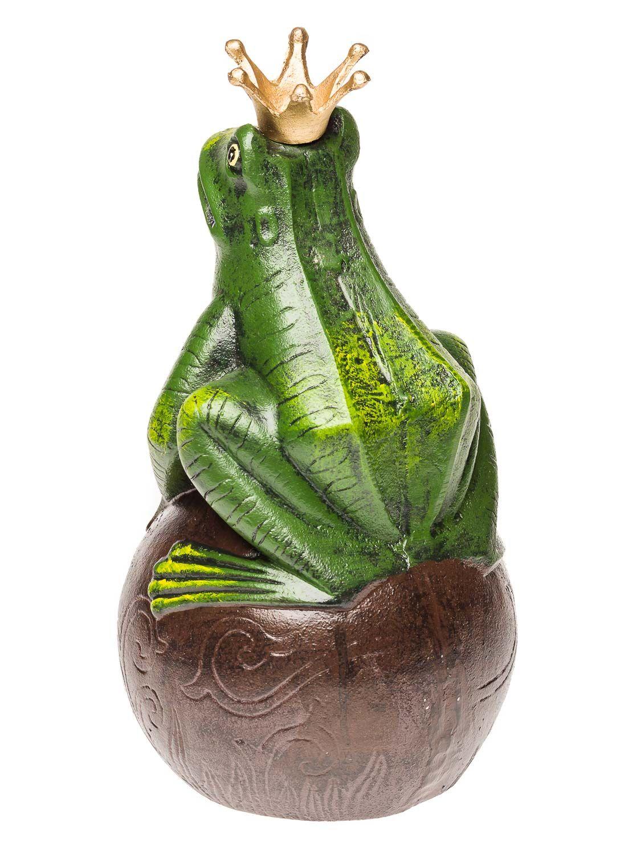 Figur Froschkönig Frosch Krone König Gartenfigur Skulptur Märchen 35cm Gusseisen