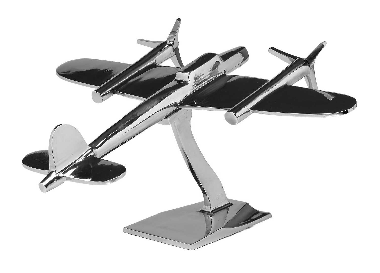 flugzeug 47cm modell aluminium flugzeugmodell silber antik stil schreibtisch ebay. Black Bedroom Furniture Sets. Home Design Ideas