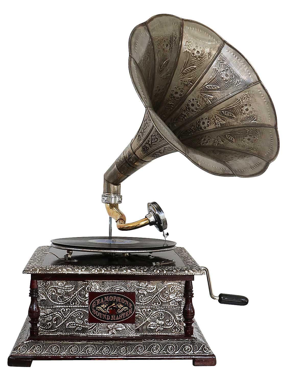 Radio, Phonograph, Tv, Phone 2019 Fashion Grammophon Gramophone Dekoration Trichter Grammofon Messing Antik-stil X03 Phonographs, Accessories