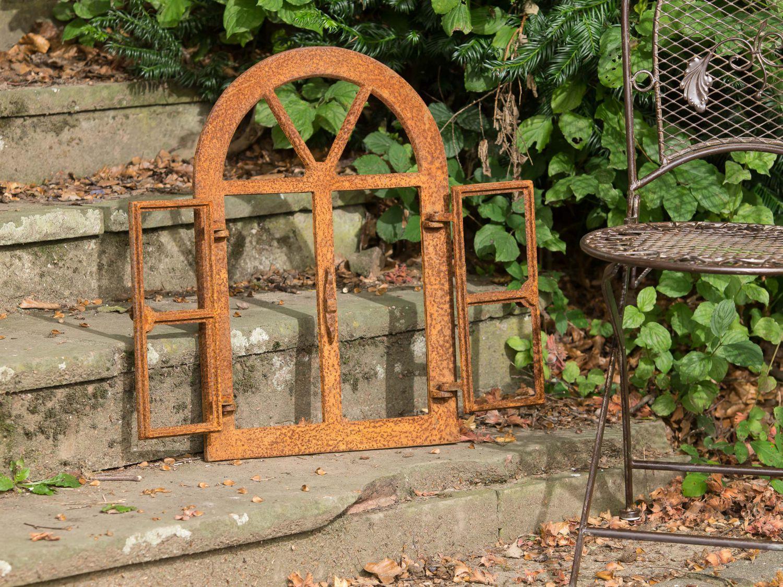 Nostalgie stallfenster 59x40cm fenster eisen klappfenster for Rost gitter garten