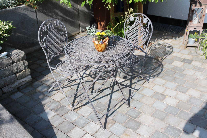 Establecer juego de hierro muebles de jard n de estilo for Juego de jardin de hierro antiguo