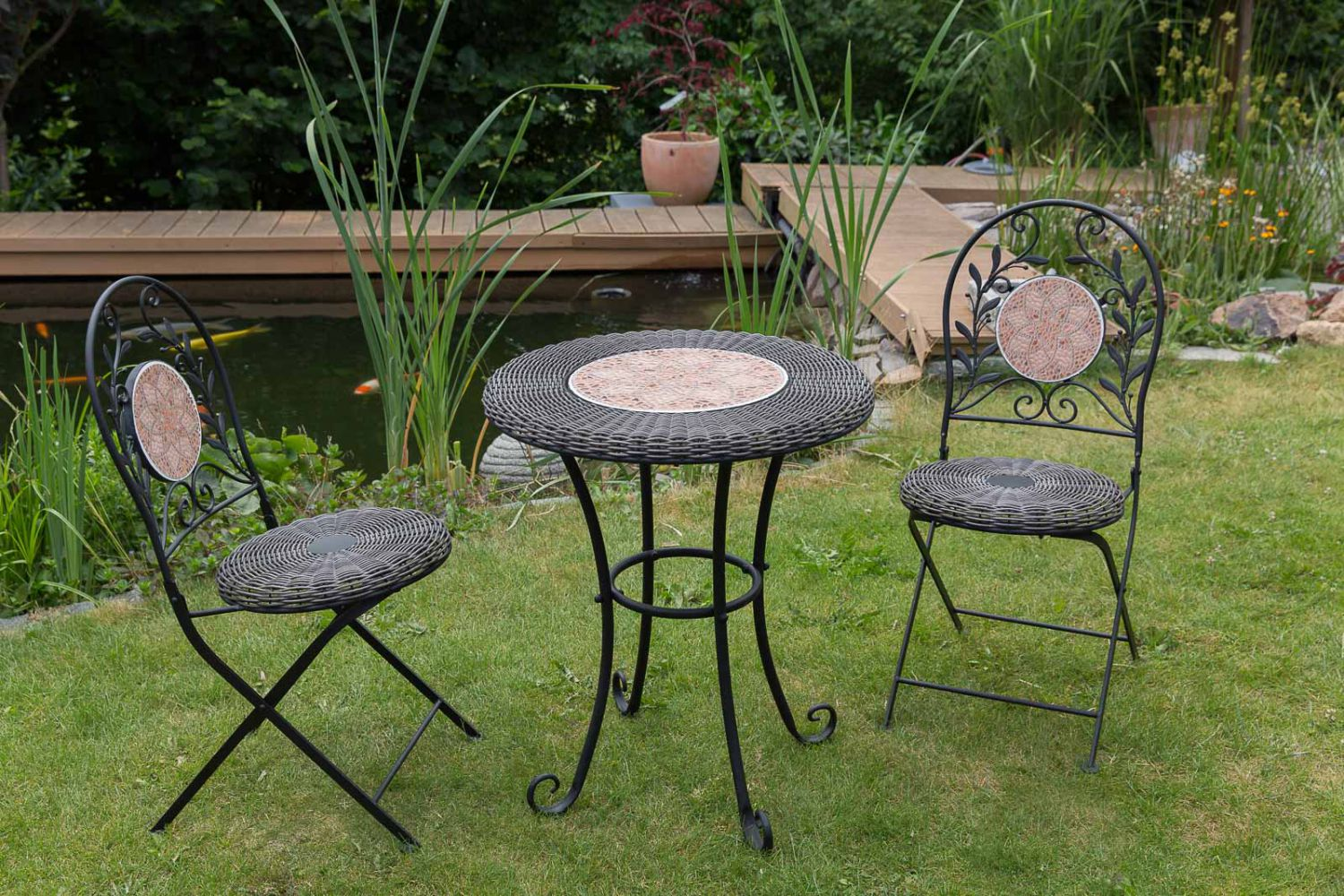 garnitur gartenset eisen gartenm bel garten schwarz antik stil garden furniture ebay. Black Bedroom Furniture Sets. Home Design Ideas