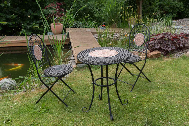 Set Gardenset Iron Garden Furniture Black Antique Style EBay