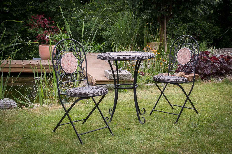 garnitur gartenset eisen gartenm bel garten schwarz antik stil garden furniture ebay. Black Bedroom Furniture Sets. Home Design Ideas