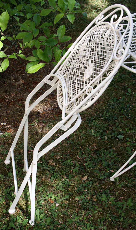 2x gartenstuhl je 9kg eisen garten stuhl klappstuhl antik. Black Bedroom Furniture Sets. Home Design Ideas