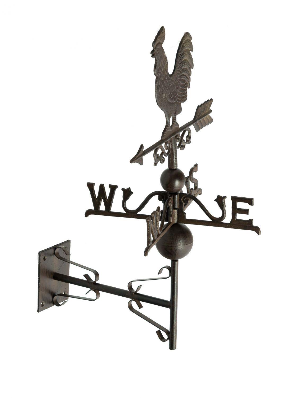 Nostalgie wand wetterhahn hahn garten dekoration windrad for Eisen dekoration
