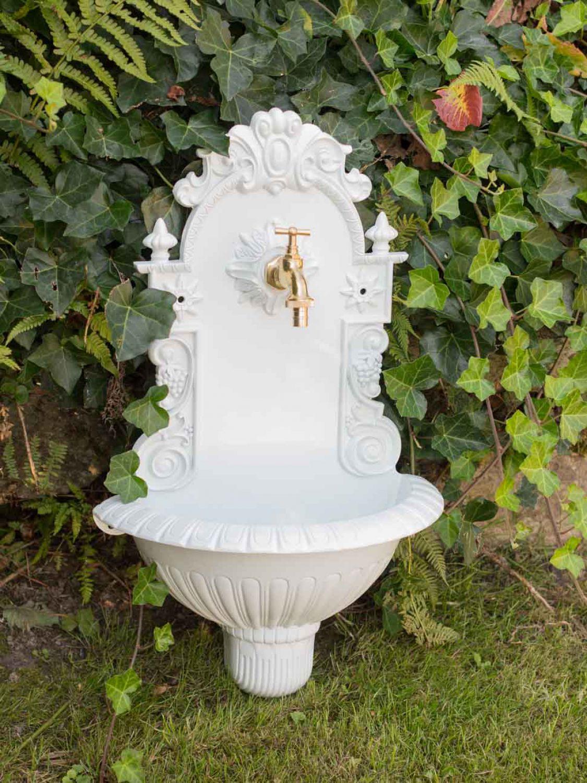 Waschbecken wein wandbrunnen garten aluminium becken - Garten wandbrunnen ...