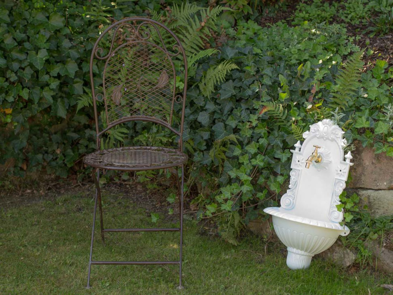 fontaine murale de jardin avec vasque style antique aluminium blanc ebay. Black Bedroom Furniture Sets. Home Design Ideas