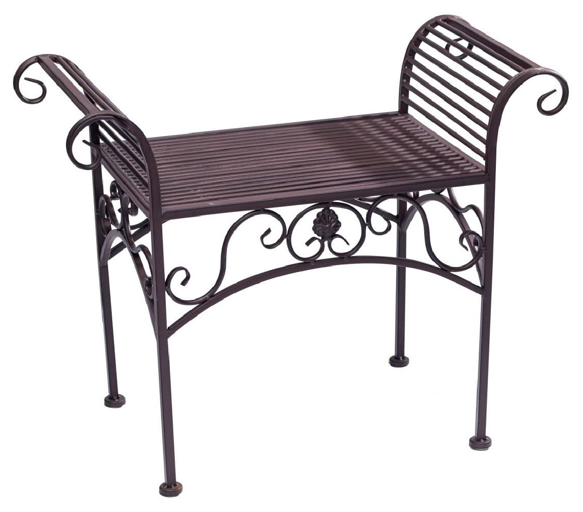 Banc meubles de jardin en m tal de style antique marron for Yverdon meubles jl zbinden s a