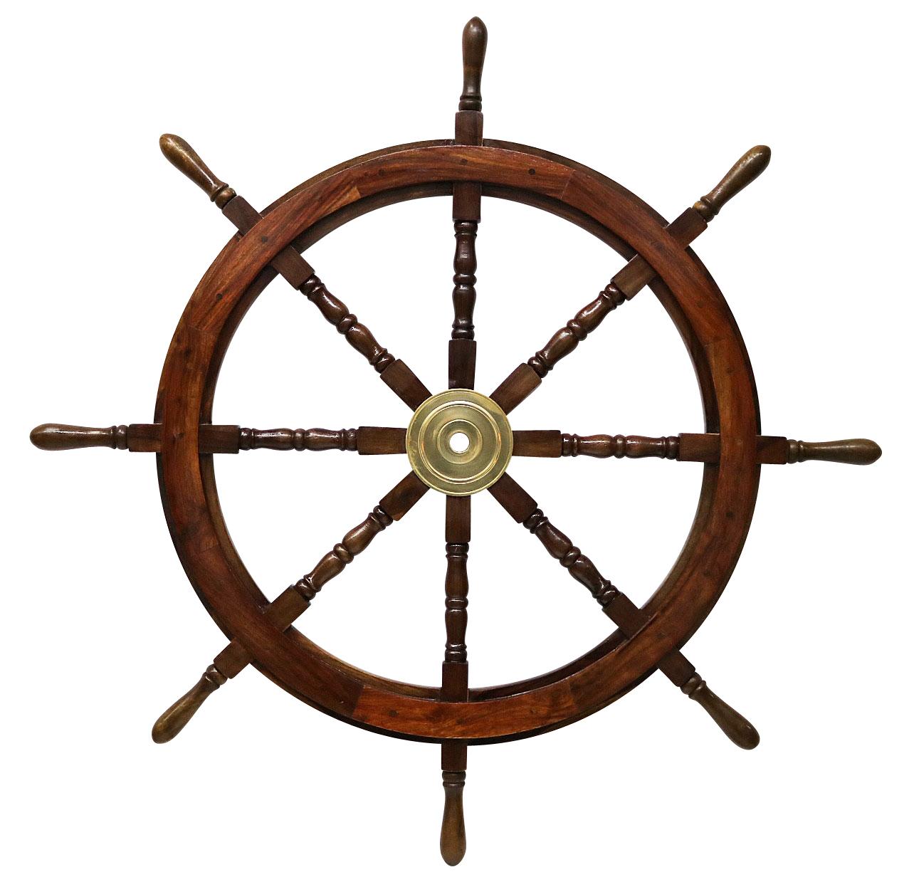 schiffssteuerrad 106cm schiffsrad steuerrad schiff schiffe boot holz antik stil ebay. Black Bedroom Furniture Sets. Home Design Ideas