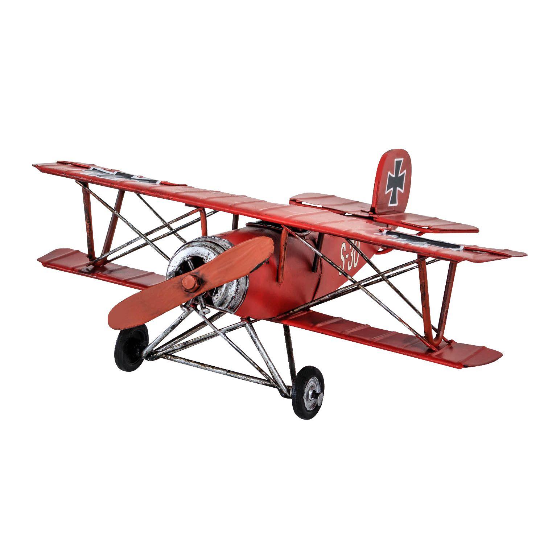 modellflugzeug nostalgie roter baron blech metall flugzeug. Black Bedroom Furniture Sets. Home Design Ideas