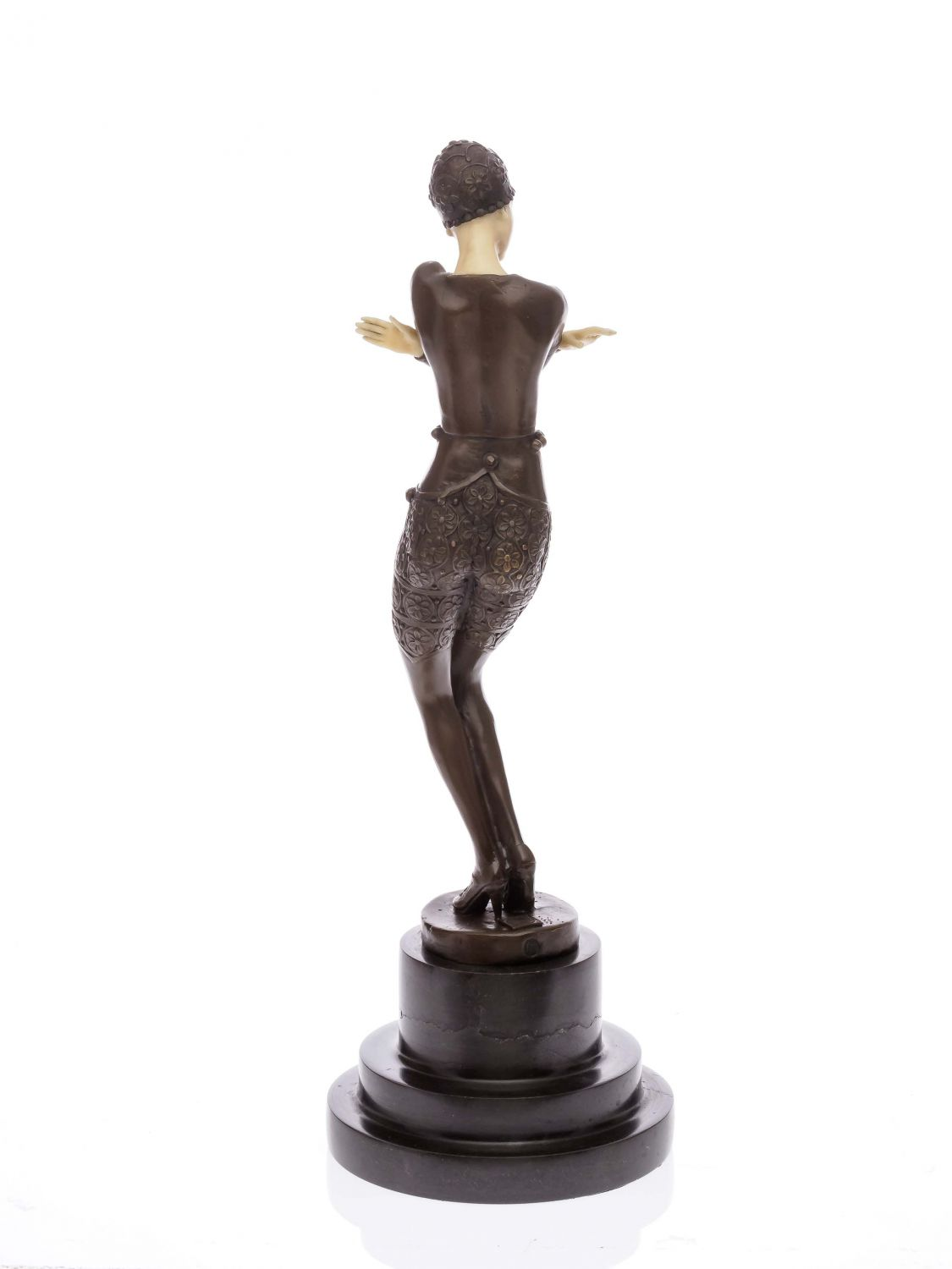 bronze bronzefigur t nzerin skulptur sculpture im art deco deko stil figur 38cm ebay. Black Bedroom Furniture Sets. Home Design Ideas