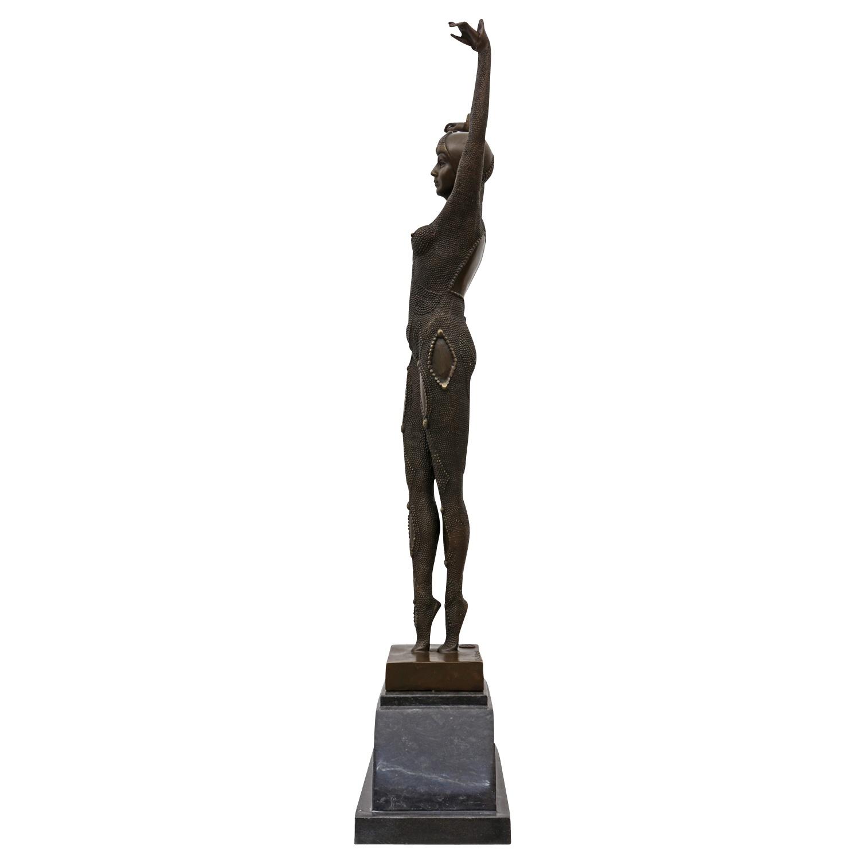 Statuette en bronze danseuse après Chiparus style antique figure réplique