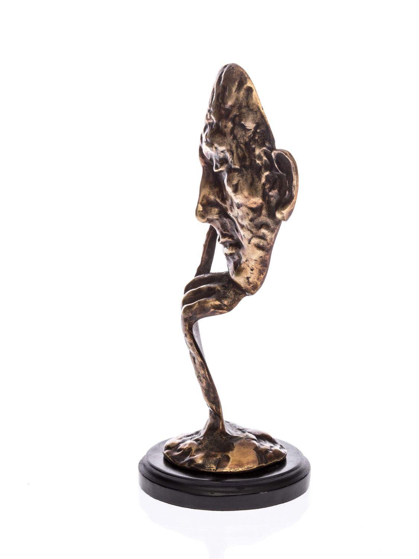 Bronze Figure Mask Thinker Man 32cm Bust Sculpture Face
