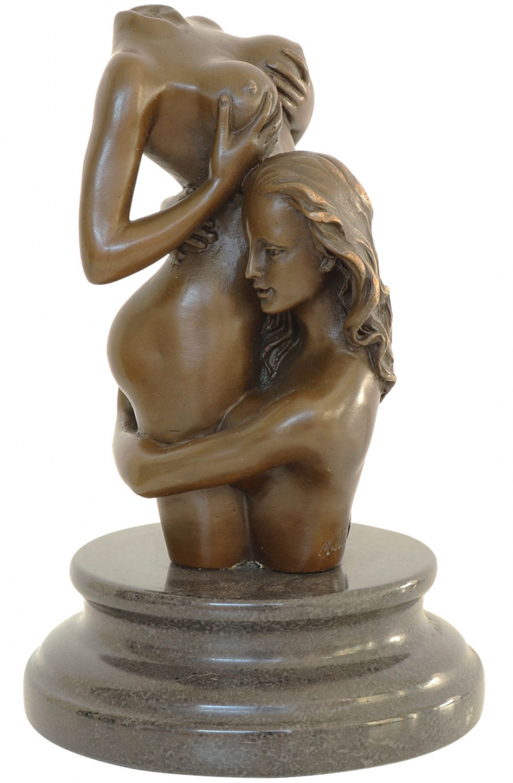 finish sculpture Erotic women in bronze