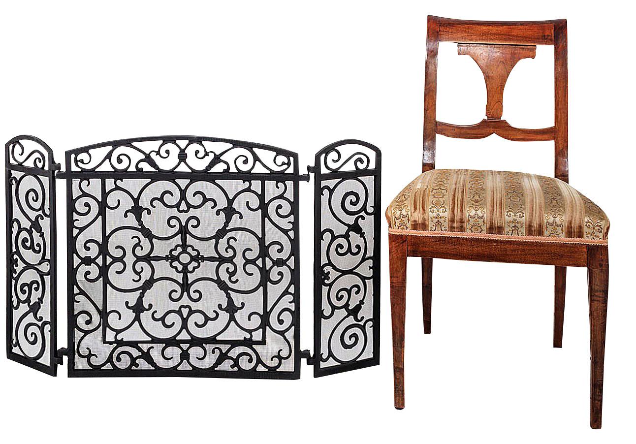 kamin funkenschutz kamingitter eisen kaminschutz antik stil schwarz 11kg ebay. Black Bedroom Furniture Sets. Home Design Ideas