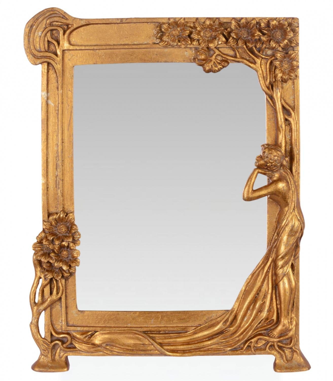miroir maquillage miroir de table fer art nouveau femme. Black Bedroom Furniture Sets. Home Design Ideas