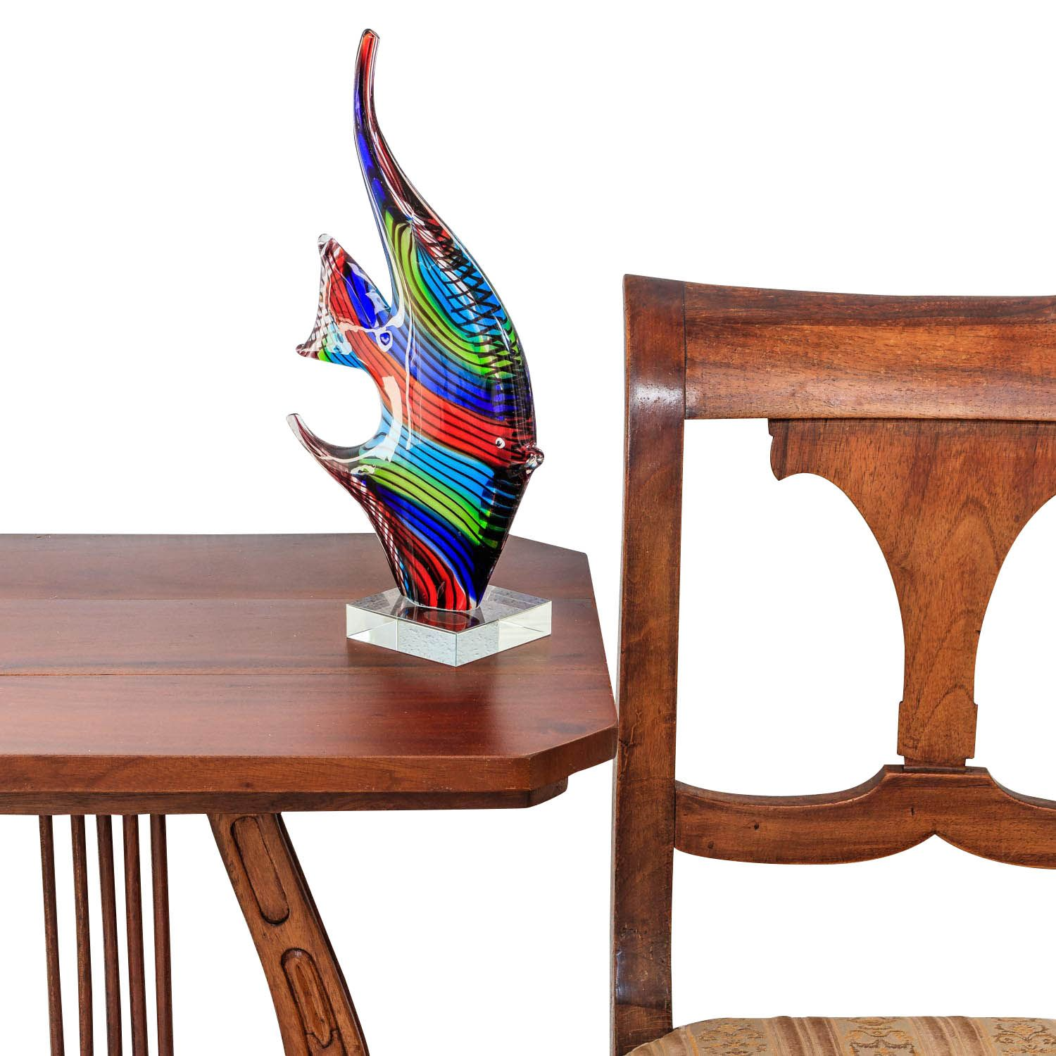 figure poisson sculpture en verre murano style antique. Black Bedroom Furniture Sets. Home Design Ideas