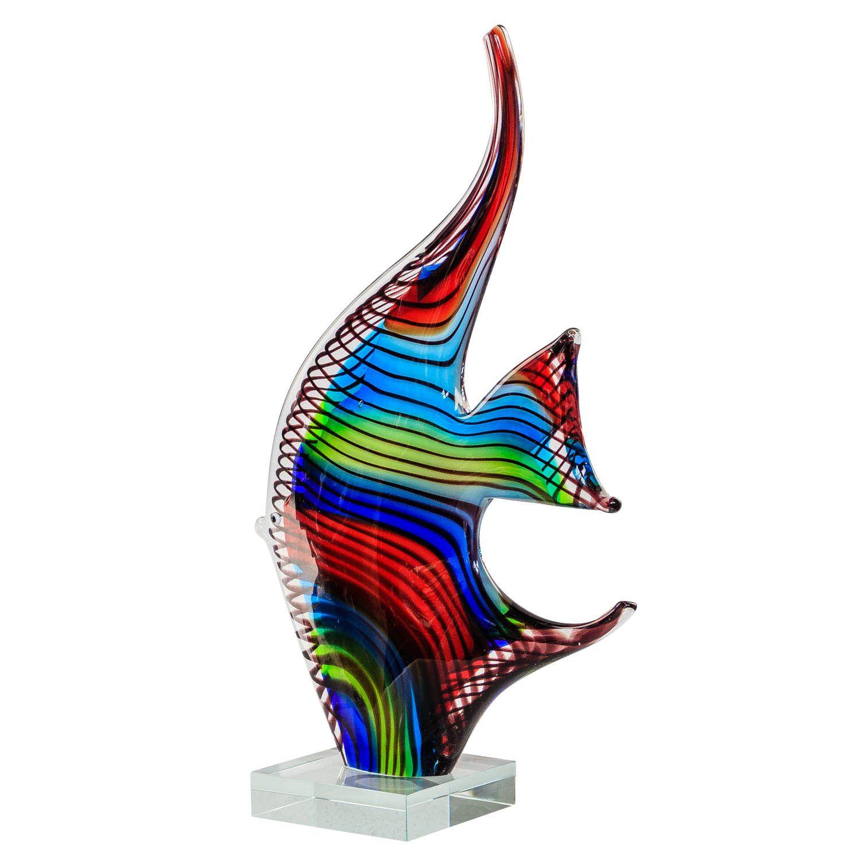 figure poisson sculpture en verre murano style antique murano 32cm ebay. Black Bedroom Furniture Sets. Home Design Ideas