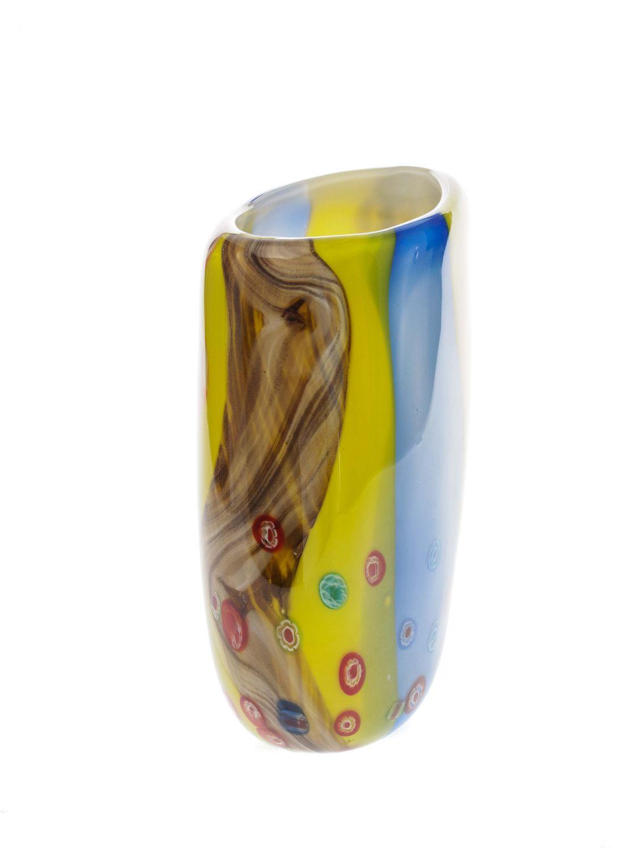 Glasvase glas vase im murano stil glass vase antik stil for Gartendekoration glas