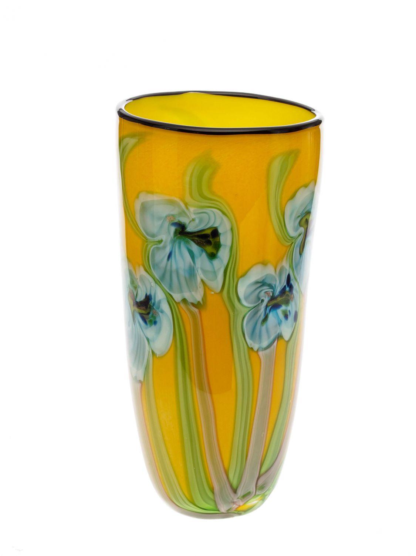 Vase en verre style verre de murano style ancien jaune ebay - Vase ancien en verre ...