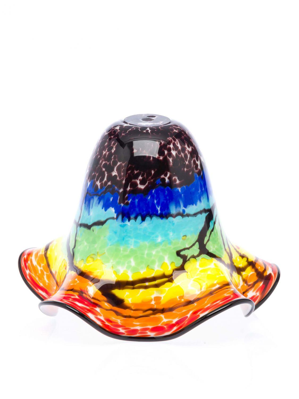 lampenschirm tischlampe lampe glas glasschirm murano stil glass lampshade farbig ebay. Black Bedroom Furniture Sets. Home Design Ideas