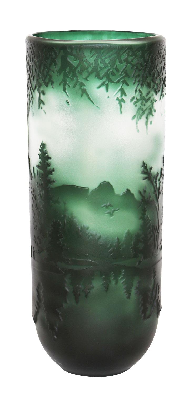 Vase Replika nach Galle Gallé Glasvase Glas Antik-Jugendstil-Stil Kopie c6