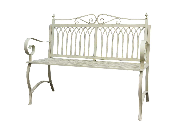 gartenbank bank antik stil garten metall creme wei. Black Bedroom Furniture Sets. Home Design Ideas