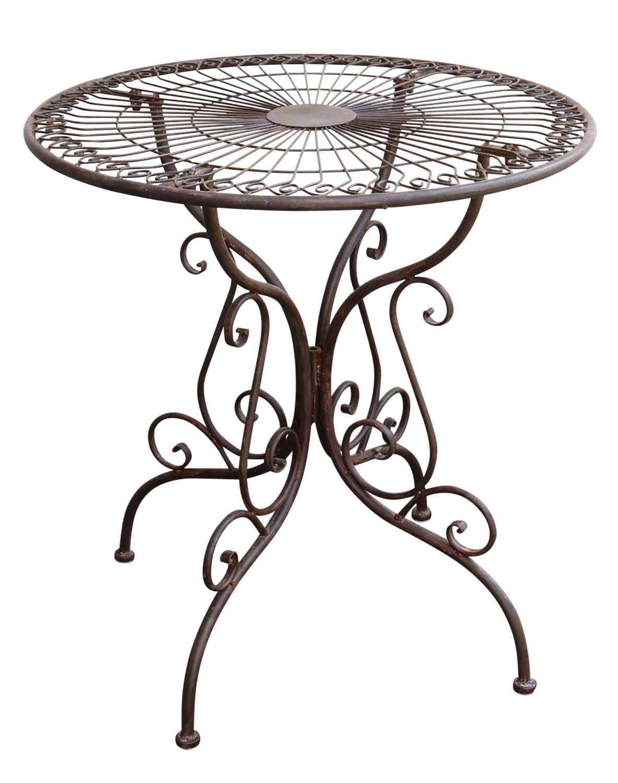 gartentisch nostalgie antik stil gartenm bel metall garten tisch braun ebay. Black Bedroom Furniture Sets. Home Design Ideas