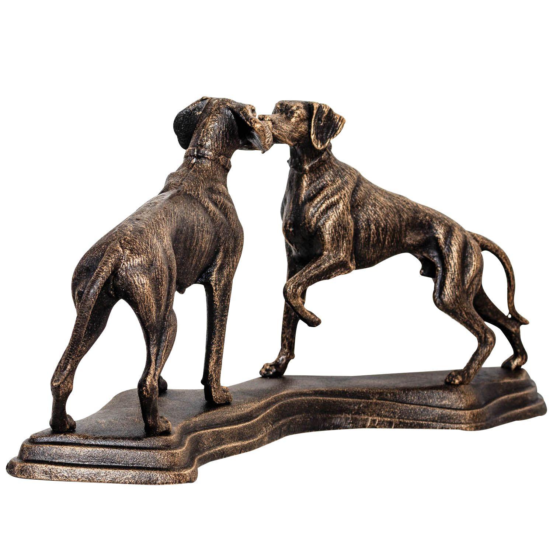 Eisenfigur Hund Jagdhund Figur Skulptur Eisen Antik-Stil 49cm