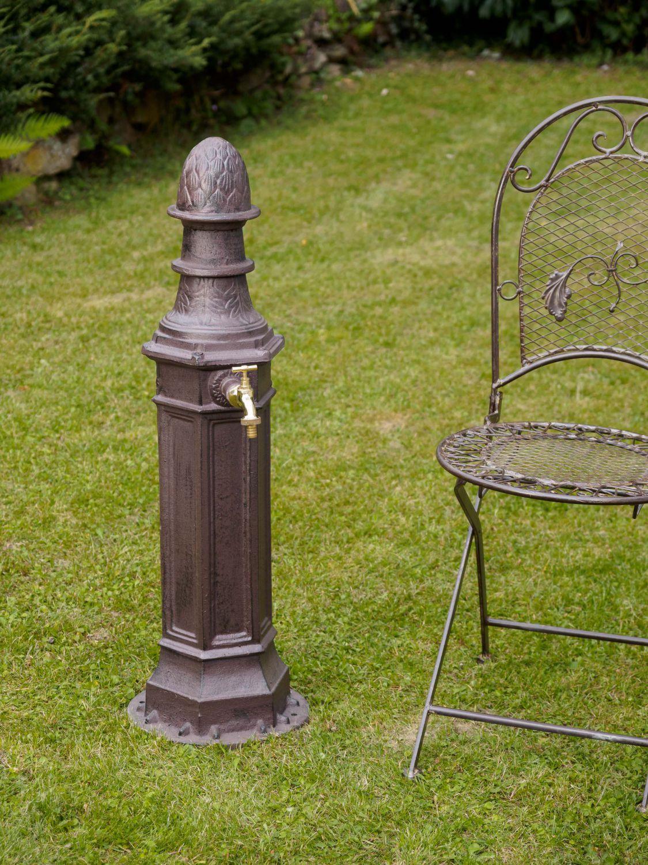 eisen standbrunnen waschbecken garten antik stil brunnen zapfs ule braun ebay. Black Bedroom Furniture Sets. Home Design Ideas