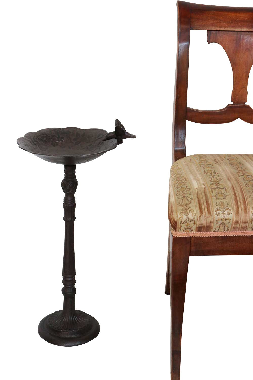 bain oiseau jardin fer style antique ebay. Black Bedroom Furniture Sets. Home Design Ideas