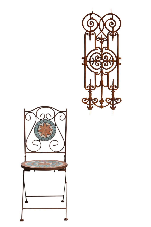 Gitter Zaun Balkongitter Treppen Balkon Geländer Eisen Treppenstäbe Antik-Stil