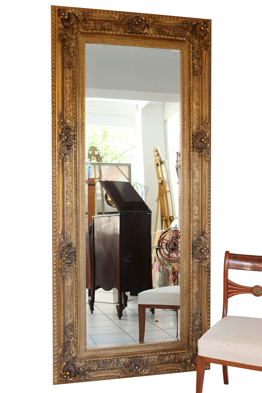 Kleiner Wandspiegel Spiegel im goldenen Holzrahmen Antik Stil HP025