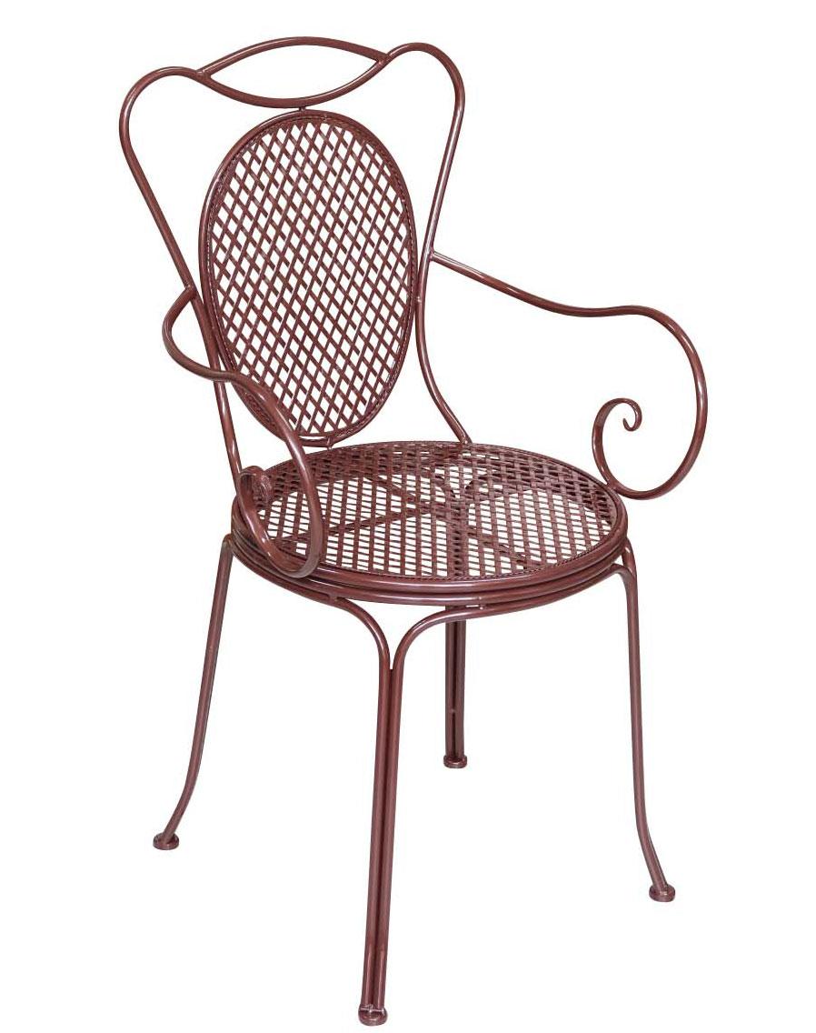 bistrostuhl metall antik stil armlehnstuhl gartenstuhl garten bistro stuhl braun ebay. Black Bedroom Furniture Sets. Home Design Ideas