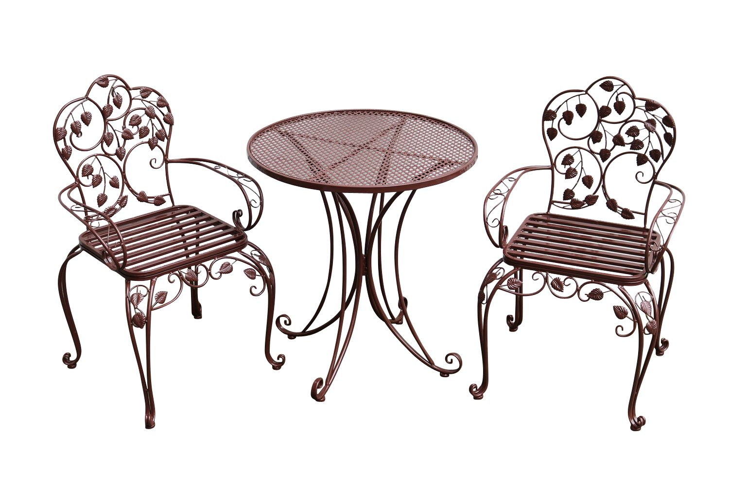 Garden furniture set table 2 chairs brown antique style metal ebay - Reasons choosing vintage style furniture ...