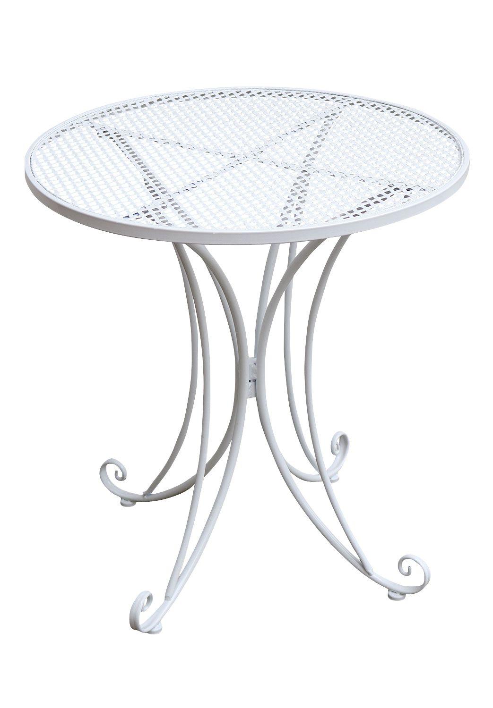 Bistrotisch Metall Antik-Stil Gartentisch 75cm Garten Bistro Tisch ...