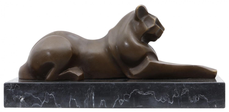 Skulptur Hahn Antik-Stil Bronzeskulptur Bronze Figur Statue 26cm