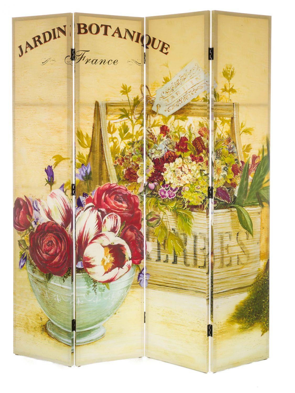 Paravent raumteiler sichtschutz holz 180x153cm spanische - Spanische dekoration ...