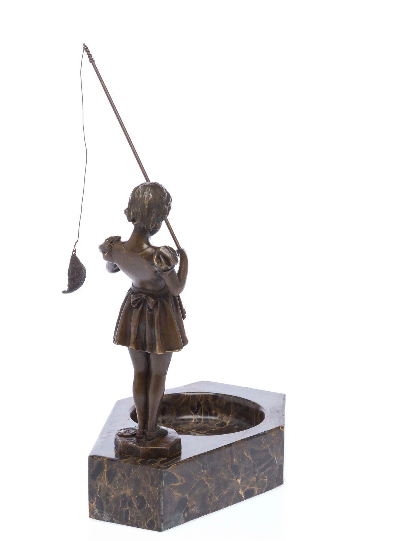 art deco sculpture fishing girl ferdinand preiss style bronze ebay. Black Bedroom Furniture Sets. Home Design Ideas