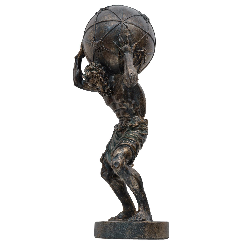 Atlas Träger der Weltkugel Titan Skulptur Figur Statue Antik-Stil 42cm