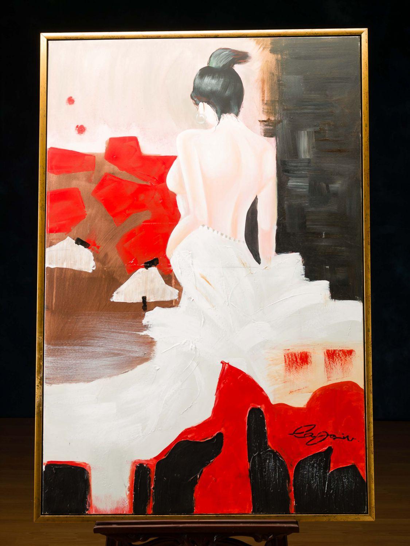 original lgem lde gem lde moderne kunst abstrakt akt erotik frau 124cm ebay. Black Bedroom Furniture Sets. Home Design Ideas