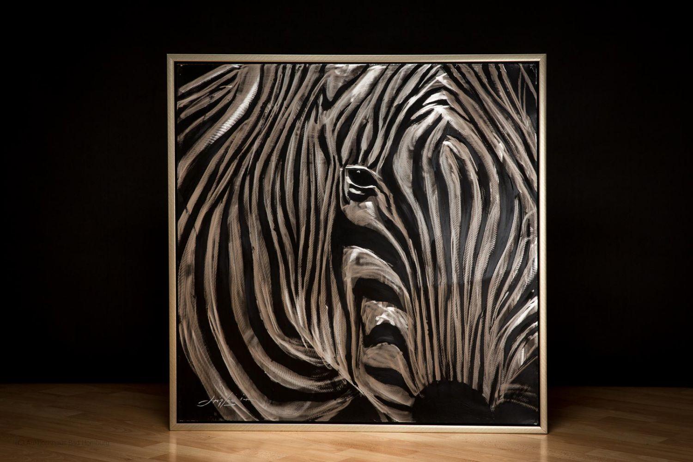 Original Ölgemälde Öl auf Leinwand Rahmen Zebra Afrika Gemälde Bild ...