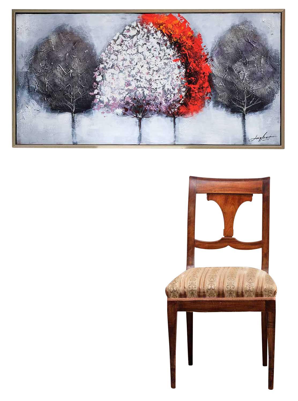 original lgem lde gem lde baum moderne kunst mit rahmung. Black Bedroom Furniture Sets. Home Design Ideas