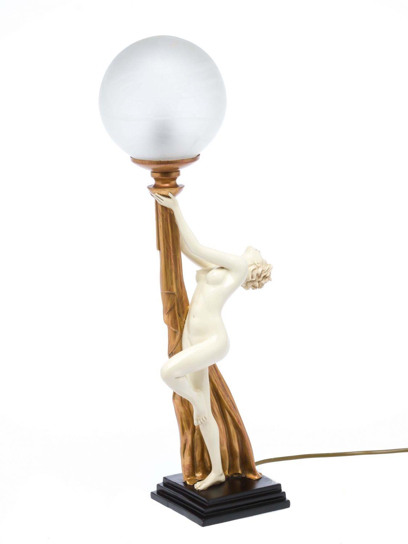 tischlampe lampe leuchte erotische kunst glas table lamp im jugendstil design ebay. Black Bedroom Furniture Sets. Home Design Ideas