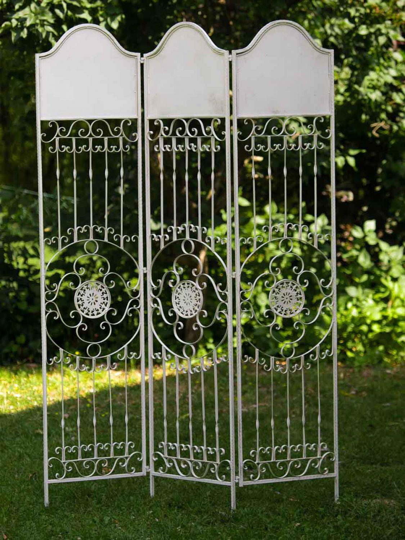 Paravent Pergola Spalier Eisen Rankhilfe Zaun 19kg Antik Stil