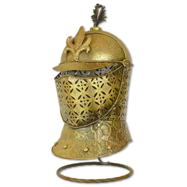 Casque de chevalier avec support guerrier décoration métal ...