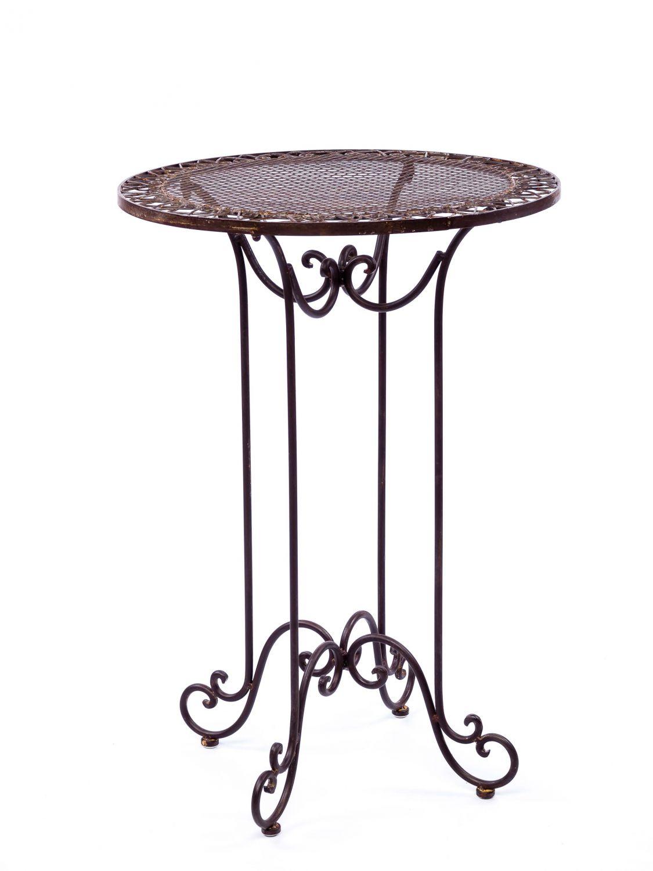 Détails sur Table haute pour jardin - fer forgé - style antique - 101 cm