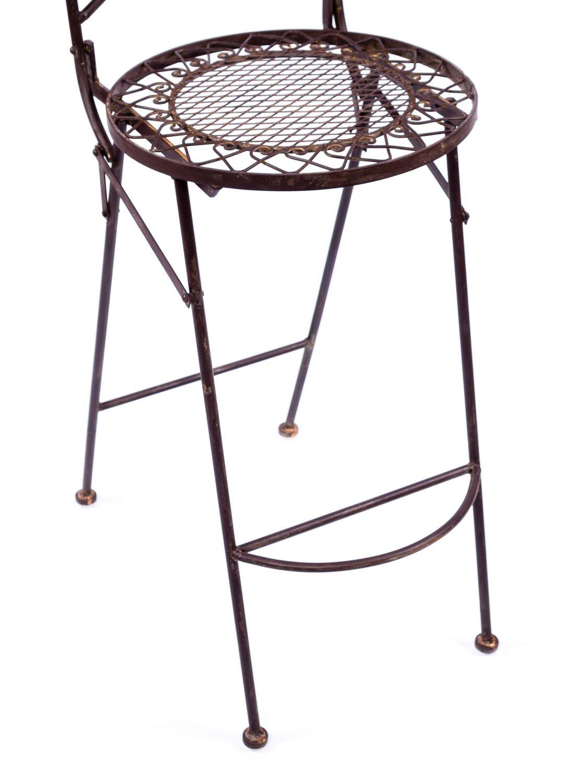 Sedia sgabello da bar sedia da giardino pieghevole in for Mobili da giardino in ferro antichi