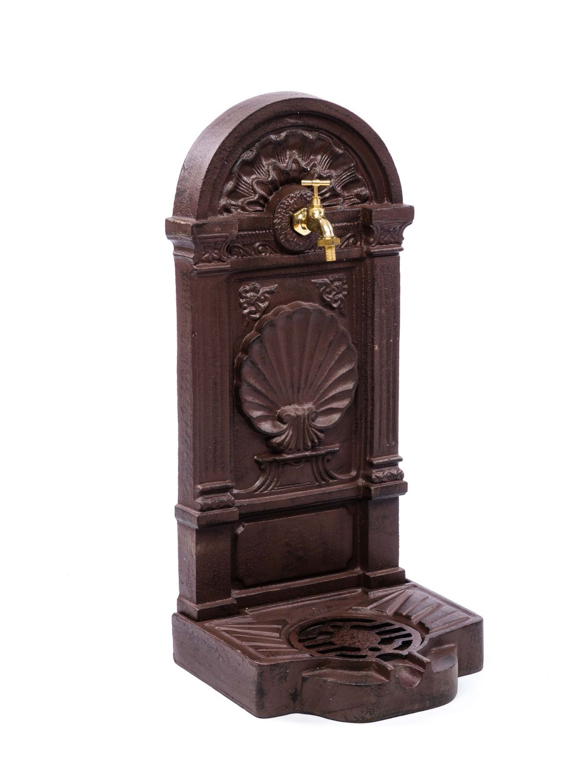 waschbecken standbrunnen garten eisen antik stil brunnen waschplatz braun ebay. Black Bedroom Furniture Sets. Home Design Ideas